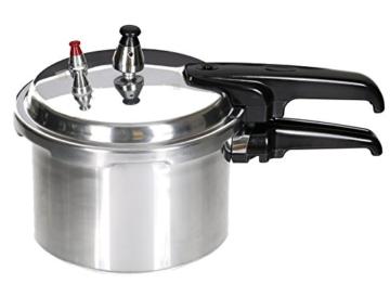 Aluminium Schnellkochtopf 3 Liter Kochtopf Dampfkocher Schnellkocher poliert - 4