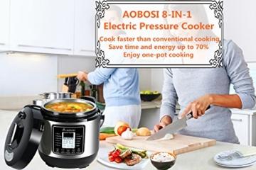 Aobosi 8-in-1 Elektrischer Schnellkochtopf Mehrfach Multi-Reiskocher mit 6 einstellbare Druckstufen,Warmhaltefunktion, 24 Stunden Timer und Kostenlos Zubehör|Kochtopf aus Edelstahl 6L/1000W - 9