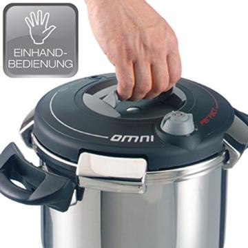 BEEM Omni Perfect, Schnellkochtopf mit Einhandbedienung, 4.0 Liter, Edelstahl, Edition Eckart Witzigmann - 4