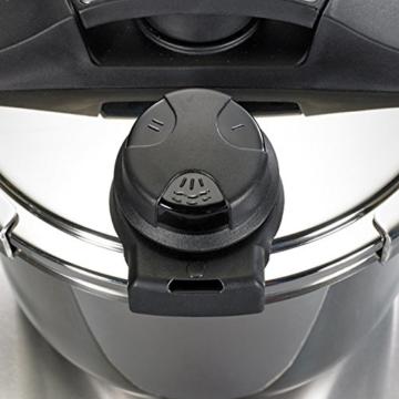 BEEM Vitalplus, 6.0 Liter Schnellkochtopf mit Einhandbedienung und Marathon BIO-LON Ceramic Antihaftversiegelung, Edelstahl - 3