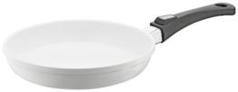 Berndes 032115 Vario Click Induction White Aluguss Bratpfanne keramik mit abnehmbarem Griff 24 cm - 1