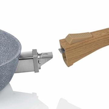 BRATmaxx Keramik-Pfannen Granit-Optik 20/24/28 cm + 2 Pfannenschoner - 4