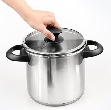 Culina® Edelstahl-Schnellkochtopf, 5.6 Liter, Einhandbedienung, inkl. Dampfkorb - 3