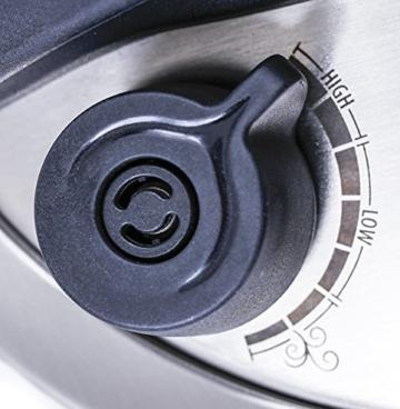 Culina® Edelstahl-Schnellkochtopf, 5.6 Liter, Einhandbedienung, inkl. Dampfkorb - 4
