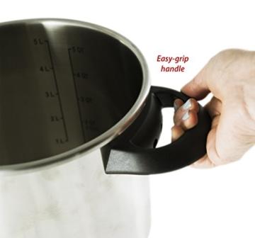 Culina® Edelstahl-Schnellkochtopf, 5.6 Liter, Einhandbedienung, inkl. Dampfkorb - 7