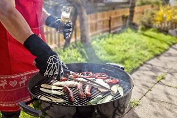 Designer Premium Grillhandschuhe, der GRILL-HINGUCKER, Ofenhandschuhe, 33 cm lang mit EN407 Zertifikat bis 350°C, 1 Paar Backhandschuhe, Kaminhandschuhe, verwendbar auch als Topfhandschuhe, Schutzhandschuhe - 4