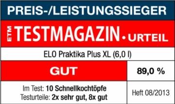 Elo 99276 Schnellkochtopf / 6 L / Edelstahl - 6