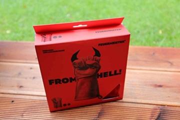 Feuermeister Premium BBQ Grillhandschuh aus hochwertigem Leder in Rot, Größe 10, 1 Paar - 3
