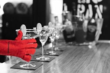 Feuermeister Premium BBQ Grillhandschuh aus hochwertigem Leder in Rot, Größe 10, 1 Paar - 6