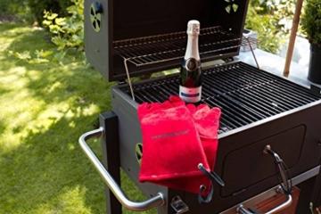 Feuermeister Premium BBQ Grillhandschuh aus hochwertigem Leder in Rot, Größe 10, 1 Paar - 8