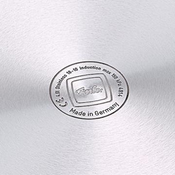 Fissler Schnellkochtopf Edelstahl vitaquick / 4.5 Liter Dampfkochtopf 22cm Durchmesser / Induktion, Gas, Ceran, Elektro / Farbe blau / 600-300-04-000/0 - 3