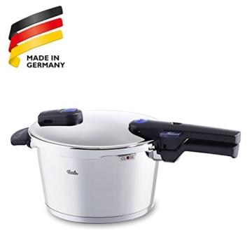 Fissler Schnellkochtopf Edelstahl vitaquick / 4.5 Liter Dampfkochtopf 22cm Durchmesser / Induktion, Gas, Ceran, Elektro / Farbe blau / 600-300-04-000/0 - 8