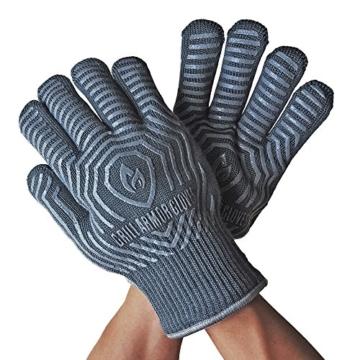 Grill Armor Extrem Hitzebeständige Grillhandschuhe bis 500°C - EN407 Zertifizierte Ofenhandschuhe zum Kochen, Grillen, Backen mit Grill Rezepte Ebook - 3