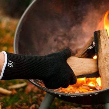 Grillhandschuhe hitzebeständig bis zu 500 Grad von GARCON I 36 cm extra lang & feuerfest I Premium Ofenhandschuhe - 2
