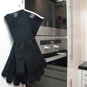 Grillhandschuhe hitzebeständig bis zu 500 Grad von GARCON I 36 cm extra lang & feuerfest I Premium Ofenhandschuhe - 6