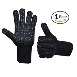 Grillhandschuhe – hitzebeständig bis zu 500°C, 1 Paar, Hochwertige extra lange Ofenhandschuhe, Topfhandschuhe, Backhandschuhe, von Tarent - 1