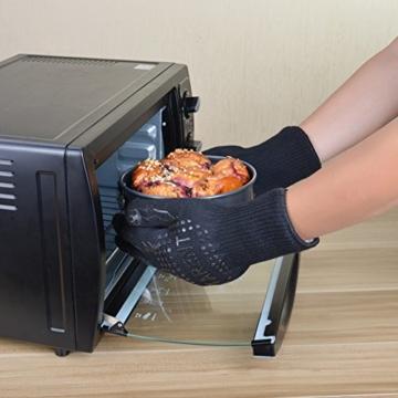 Grillhandschuhe – hitzebeständig bis zu 500°C, 1 Paar, Hochwertige extra lange Ofenhandschuhe, Topfhandschuhe, Backhandschuhe, von Tarent - 4