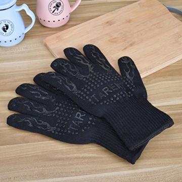 Grillhandschuhe – hitzebeständig bis zu 500°C, 1 Paar, Hochwertige extra lange Ofenhandschuhe, Topfhandschuhe, Backhandschuhe, von Tarent - 6
