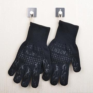 Grillhandschuhe – hitzebeständig bis zu 500°C, 1 Paar, Hochwertige extra lange Ofenhandschuhe, Topfhandschuhe, Backhandschuhe, von Tarent - 7