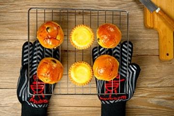 Grillhandschuhe,Premium Ofenhandschuhe,Extra Lange Topfhandschuhe,Backhandschuh, Extrem Hitzebeständige Sicherheit,Schwarz,1 Paar von Ayuboom - 5