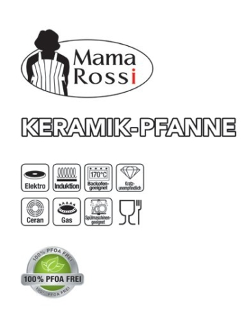 Keramikpfanne 24cm Mama Rossi - 4
