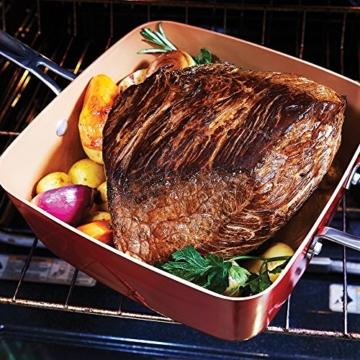 Livington Copperline Eckpfanne Kupfer Keramikpfanne inkl Deckel, Frittierkorb & Dampfeinsatz - das Original von Mediashop - 4