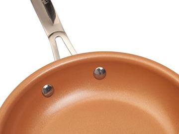 PALEMISO Brat-Pfanne mit Kupfer-Keramik-Titan-Beschichtung (20 cm) - 8