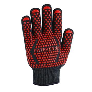 Pateker®- 2 Professionelle grillhandschuhe ofenhandschuhe Kochhandschuh -XL - 2