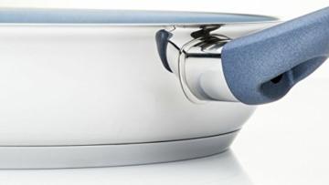 Premium-Edelstahlpfanne Ø 28 cm - mit Weilburger Keramikbeschichtung (für alle Herdarten) - 2