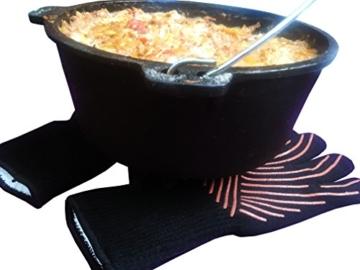 Premium Grillhandschuhe / 2er Set / Bis 500°C Hitzebeständig / EN407 Zertifizierte Ofenhandschuhe Aus Kevlar-Nomex Gewebe / Extra Lang Zum Grillen, Kochen & Backen / Ess-Nische Backhandschuhe - 8