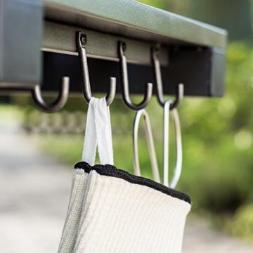 Premium Grillhandschuhe 2er Set weiß beige. Bis zu 500 °C Hitzeschutz. Ofenhandschuhe aus hitzebeständiger Nomex-Faser. Mit rutschfesten Silikonstreifen. - 5