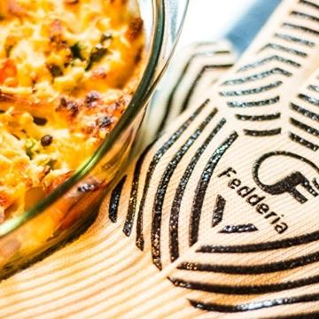 Premium Grillhandschuhe 2er Set weiß beige. Bis zu 500 °C Hitzeschutz. Ofenhandschuhe aus hitzebeständiger Nomex-Faser. Mit rutschfesten Silikonstreifen. - 7