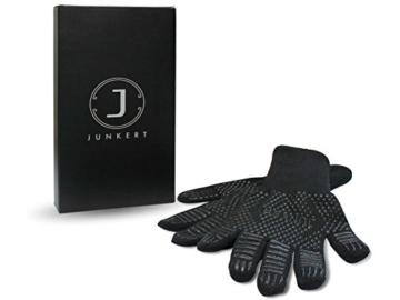 Premium Ofenhandschuhe aus Aramid - hitzebeständig bis 500°C - elegantes Design - Vielseitig einsetzbar - Grillhandschuhe - Kaminhandschuhe - Topfhandschuhe - Backhandschuhe (schwarz) - 2