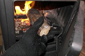 Premium Ofenhandschuhe aus Aramid - hitzebeständig bis 500°C - elegantes Design - Vielseitig einsetzbar - Grillhandschuhe - Kaminhandschuhe - Topfhandschuhe - Backhandschuhe (schwarz) - 3