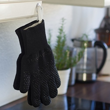 Premium Ofenhandschuhe (Größe S) - 2er Set - hitzebeständig bis 500°C - nach EN407 zertifiziert - extra lang für besten Schutz - Grillhandschuhe - Kaminhandschuhe aus Aramidfasern - 4