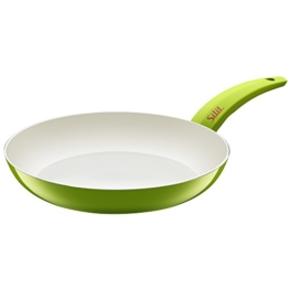 Silit Selara Bratpfanne, Aluguss beschichtet Keramikpfanne Kunststoffgriff, grün, Ø 28 cm - 1
