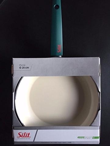 Silit Selara Bratpfanne, Aluguss beschichtet Keramikpfanne Kunststoffgriff, petrol, Ø 28 cm - 3
