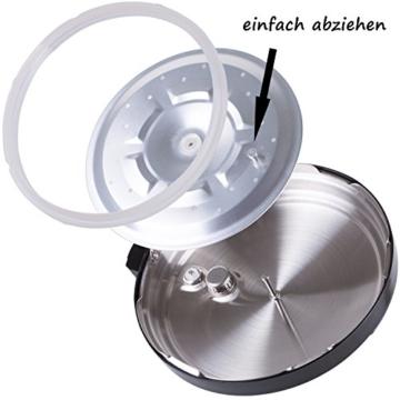 TZS First Austria - 1000W Elektro Schnellkochtopf 8 Auto Progrogramme 6L Topf Multikocher Reiskocher / Warmhaltefunktion, Dampfgarer Kochtopf / Multicooker Multivarka - 3