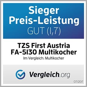 TZS First Austria - 1000W Elektro Schnellkochtopf 8 Auto Progrogramme 6L Topf Multikocher Reiskocher / Warmhaltefunktion, Dampfgarer Kochtopf / Multicooker Multivarka - 6