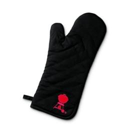 Weber Grillhandschuh, schwarz mit rotem Kettle - 1