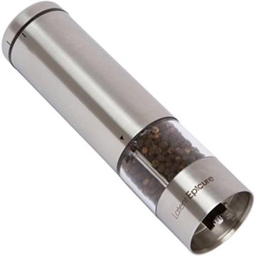 Latent Epicure Salz und Pfeffermühle (2er Set) - Batteriebetrieben | Leuchtendes Licht | Einstellbare Feinheit | inkl. GRATIS Ständer - 3