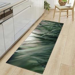 Modern Küchenläufer Grünes Gras Gruppe 7 MM Dicke Küchenmatten Schlafzimmer Teppich Anti-Müdigkeit Fußmatten,60x180CM - 1