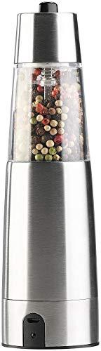Rosenstein & Söhne Pfeffermühle: Automatische Akku-Gewürzmühle mit Keramik-Mahlwerk, USB-Ladefunktion (Chilimühle) - 1