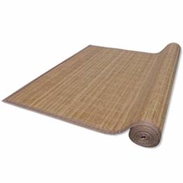 vidaXL Bambus Matte Bambusteppich Küchenteppich Bambusmatte Vorleger Läufer - 1