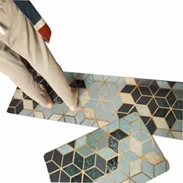 Viktion Anti Rutsch Küchenläufer Küchenteppich Wasserdichte Küche Bodenmatte für Küche Flur Teppichläufer/Flurläufer aus PVC für alle Böden (Mosaic, 45cm*150cm) - 1