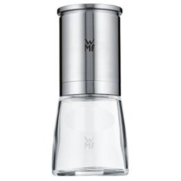 WMF De Luxe Salz und Pfeffermühle, unbefüllt, Cromargan Edelstahl Glas, Keramikmahlwerk, Mühle für Salz, Pfeffer, Chillischoten, H 14 cm - 1